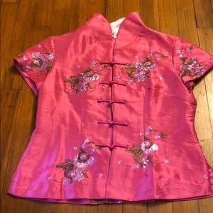 Vintage! Chinese silk shirt.